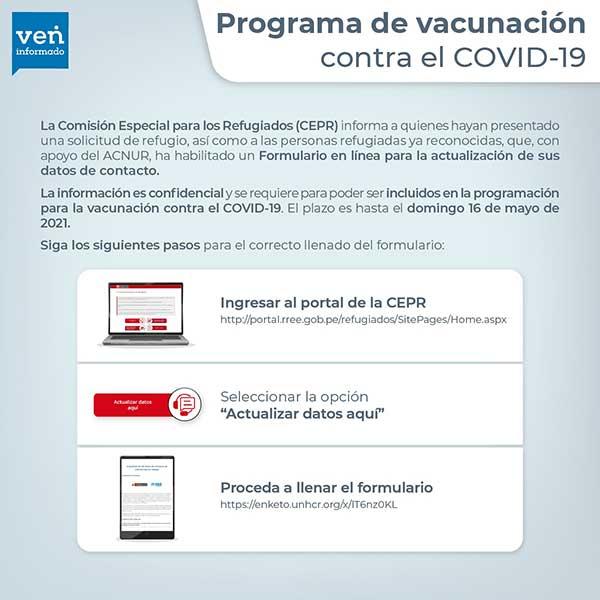 Extension-actualizacion-datos-solicitantes-refugio-vacuna-COVID-Peru-VenInformado