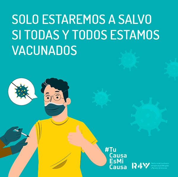 Vacunación-COVID-Peru-migrantes-refugiados-ACNUR-VenInformado
